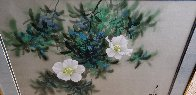 Untitled Painting (Moonflowers) 1980 24x30 Original Painting by David Lee - 2