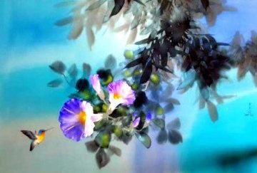 Morning Nectar 2006 24x36 Original Painting - David Lee