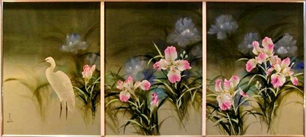 Spring Eternal Tryptich 52x103 Mural Original Painting by David Lee