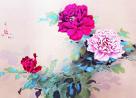 Red and Pink Flowers Limited Edition Print by David Lee - 0