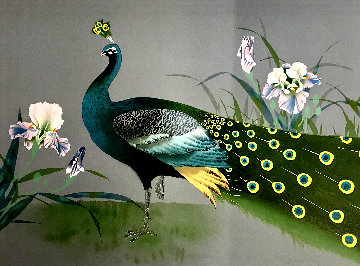 Untitled Still Life With Peacock  Limited Edition Print - David Lee