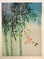 Untitled Orchids and Hummingbird Limited Edition Print by David Lee - 1