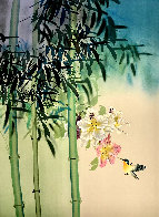 Untitled Orchids and Hummingbird Limited Edition Print by David Lee - 0
