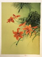 Untitled Orange Lilies With Beetle Limited Edition Print by David Lee - 1