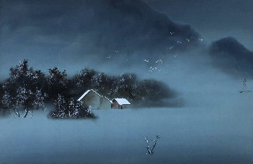 Winter Day 33x45 Original Painting by David Lee