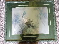 I Believe It's Blue Bird on a Branch 1978 33x40 Huge Original Painting by David Lee - 1