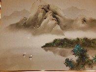 Joyful Sailing 1996 40x50 Super Huge Original Painting by David Lee - 1