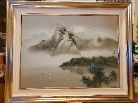 Joyful Sailing 1996 40x50 Super Huge Original Painting by David Lee - 6