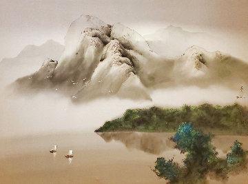 Joyful Sailing 1996 40x50 Huge Original Painting - David Lee