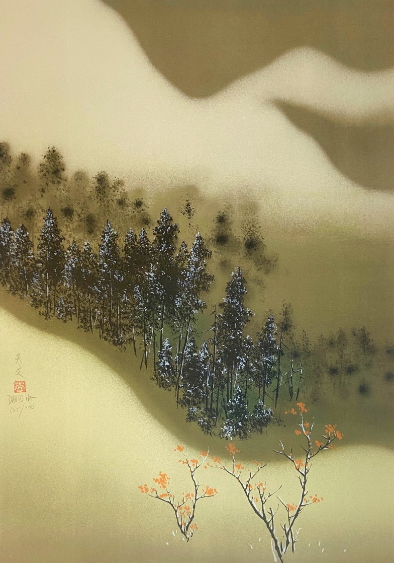 Snowy Landscape Limited Edition Print by David Lee