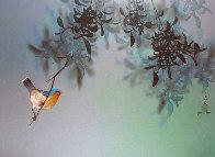Untitled Bird in Tree 1980 18x24 Original Painting by David Lee - 0