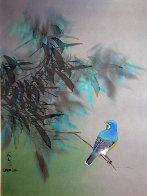 Blue Quiet Watercolor 1984 29x23 Watercolor by David Lee - 0