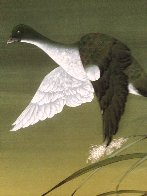 Untitled Cranes Watercolor 1973 40x30 Watercolor by David Lee - 2