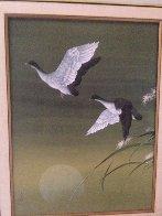 Untitled Cranes Watercolor 1973 40x30 Watercolor by David Lee - 1