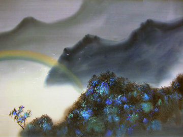 Untitled Landscape 1980 26x36 Original Painting by David Lee