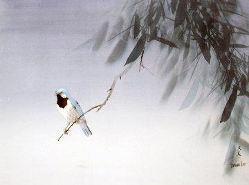 Blue Bird Original Painting - David Lee
