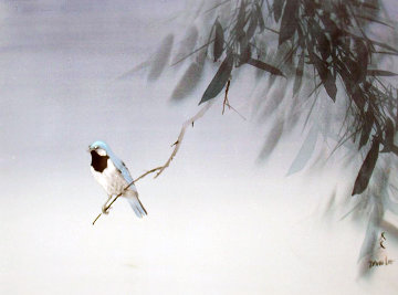 Blue Bird 18x24 Original Painting - David Lee