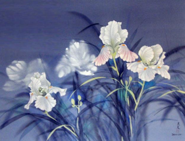Flowers Watercolor 1978 40x30 Watercolor by David Lee