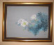 Delicate White Floral 1995 38x48 Original Painting by David Lee - 1