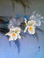 Untitled Flowers 1978 33x29 Original Painting by David Lee - 0