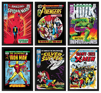 Marvel Superheroes Collection Set of 6 HS Limited Edition Print by Stan Lee