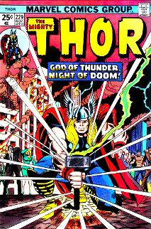 Mighty Thor #229 - God of Thunder, Night of Doom! HS Super Huge Limited Edition Print - Stan Lee