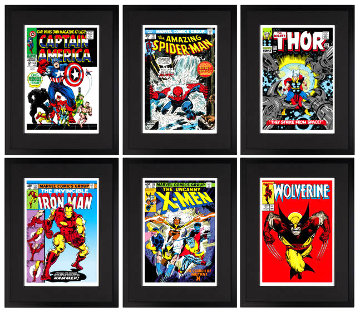 Marvel Superheroes - Portfolio of 6 2015 Limited Edition Print - Stan Lee