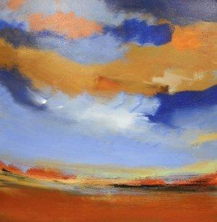 Landscape 2006 48x48 Huge Original Painting - Luc Leestemaker