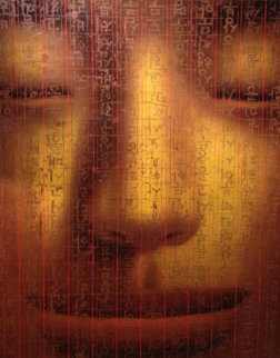Heart Sutra (Gold) Diptych 2001 60x96 mural Original Painting - Sunnyo Lee