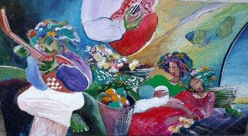Untitled Painting 1990 33x62 Huge Original Painting - Lee White