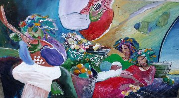 Untitled Painting 1990 33x62 Super Huge Original Painting - Lee White