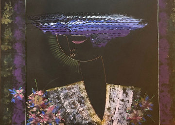 Untitled Painting 1990 43x54 Huge Original Painting - Lee White