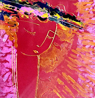 Untitled Portrait of a Woman 1990 31x31 Works on Paper (not prints) by Lee White