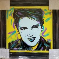 Elvis 18x18 Original Painting by Allison Lefcort - 1