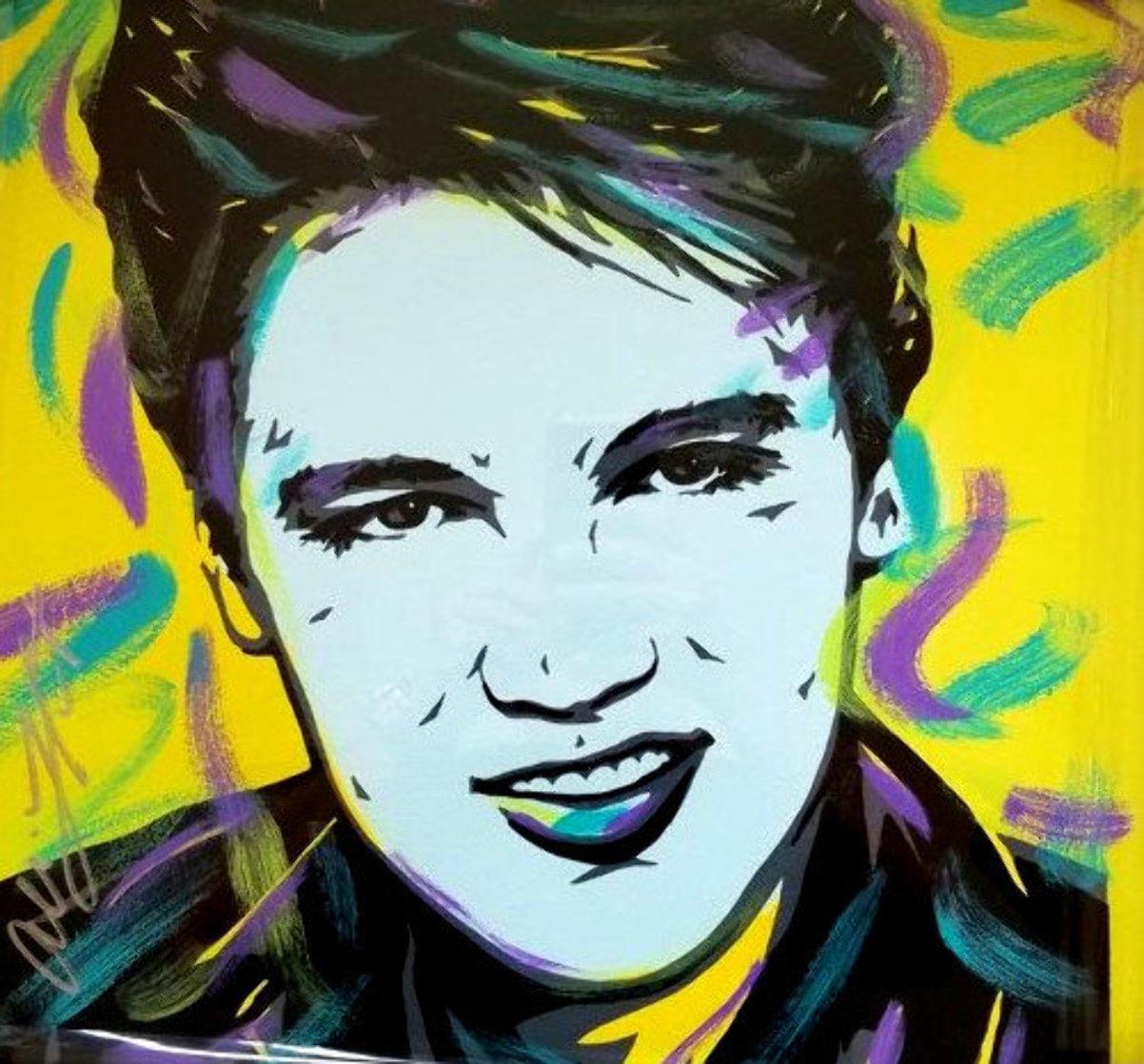 Elvis 18x18 Original Painting by Allison Lefcort