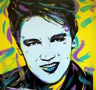 Elvis 18x18 Original Painting by Allison Lefcort - 0