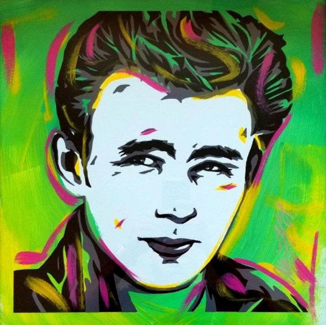 James Dean 18x18 Original Painting by Allison Lefcort