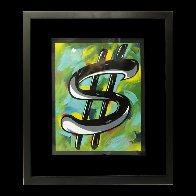 Dollar Sign 32x28 Original Painting by Allison Lefcort - 1