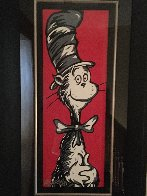 Cat in the Hat 2009 36x17  Original Painting by Allison Lefcort - 1