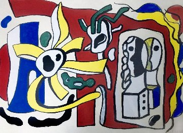 Nature Morte Aux Deux Poupees 1950 Limited Edition Print by Fernand Leger