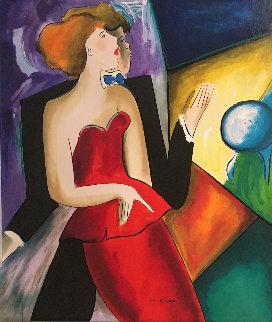 Renee Et Alain 19997 36x32 Original Painting - Linda LeKinff