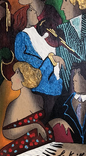 Tosca 2002 27x19 Original Painting - Linda LeKinff