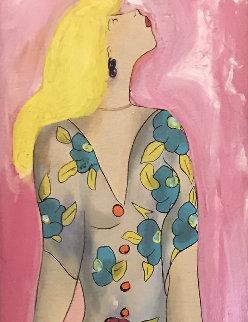 Liliana En Ete 2011 48x20 Original Painting by Linda LeKinff