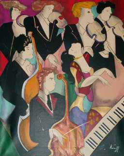 La Pie Voleuse Glazza Ladra Embellished 2001 Limited Edition Print by Linda LeKinff