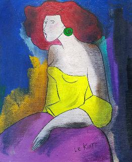 Nima Pozzi 2005 22x18 Original Painting - Linda LeKinff
