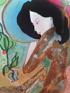Suzanne Embellished Limited Edition Print by Linda LeKinff