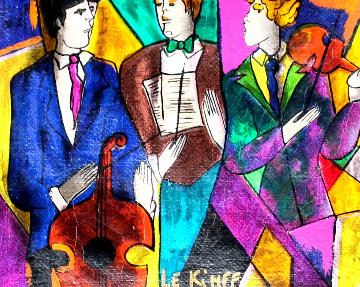 Trio 1998 Embellished  Limited Edition Print - Linda LeKinff