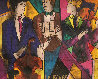 Trio 1998 Embellished  Limited Edition Print by Linda LeKinff - 3