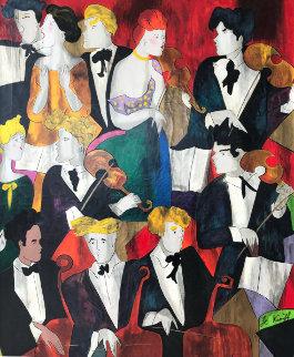 Requiem De Verdi 1998 Hand Embellished BAT Limited Edition Print - Linda LeKinff