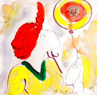 Le Ballon Magique 2013 20x20 Works on Paper (not prints) - Linda LeKinff